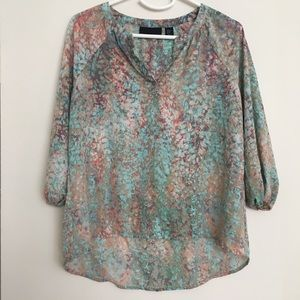 Cynthia Rowley pink and blue blouse